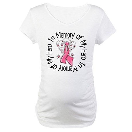 In Memory Breast Cancer Maternity T-Shirt