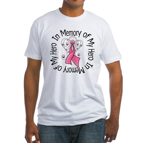 In Memory Breast Cancer Fitted T-Shirt
