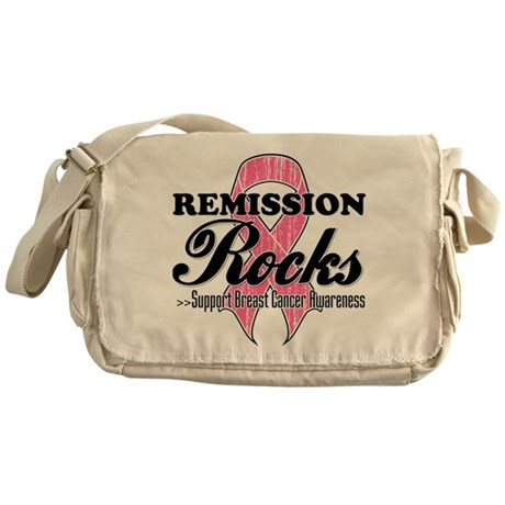 Remission Rocks Breast Cancer Messenger Bag