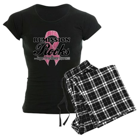 Remission Rocks Breast Cancer Women's Dark Pajamas