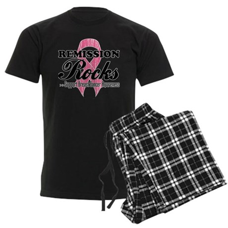 Remission Rocks Breast Cancer Men's Dark Pajamas