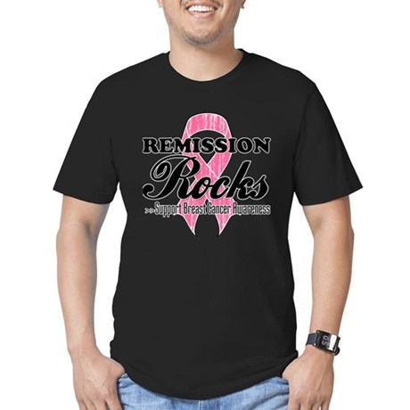 Remission Rocks Breast Cancer Men's Fitted T-Shirt