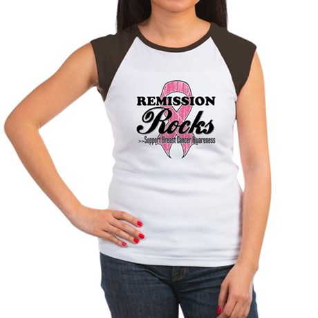 Remission Rocks Breast Cancer Women's Cap Sleeve T
