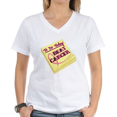 To Do Beat Breast Cancer Women's V-Neck T-Shirt