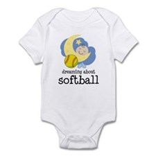 Dreaming About Softball Infant Bodysuit
