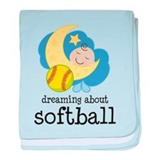 Dreaming About Softball baby blanket