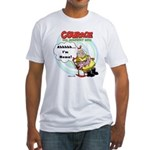 Courage the Cowardly Dog Fitted T-Shirt