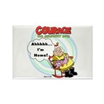 Courage the Cowardly Dog Rectangle Magnet (100 pac