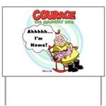 Courage the Cowardly Dog Yard Sign