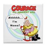 Courage the Cowardly Dog Tile Coaster