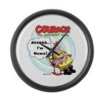 Courage the Cowardly Dog Large Wall Clock