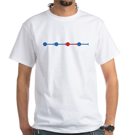Red Neuron, Blue Neuron... White T-Shirt