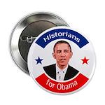 Historians for Obama political button