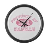 Property of Hannah Large Wall Clock