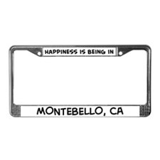 Happiness is Montebello License Plate Frame