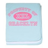 Property of Gracelyn baby blanket