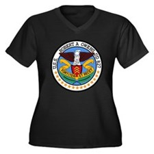 Air Carrier Wing Women's Plus Size V-Neck Dark T-S