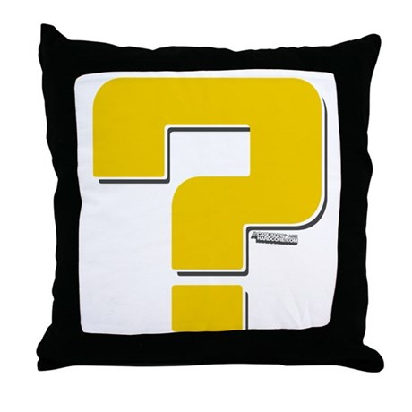 Question Mark Throw Pillow