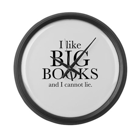 I LIke Big Books Large Wall Clock