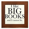 I LIke Big Books Framed Tile