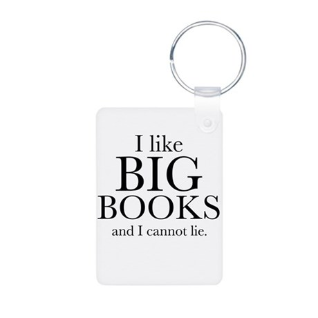 I LIke Big Books Aluminum Photo Keychain
