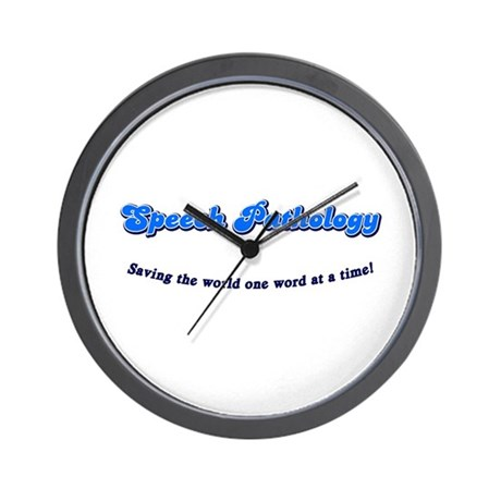 Speech Pathology Wall Clock