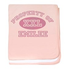 Property of Emilee baby blanket