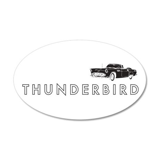 1955 Ford Thunderbird 38.5 x 24.5 Oval Wall Peel