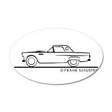 1956 Thunderbird Hardtop 22x14 Oval Wall Peel
