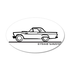 1957 Thunderbird Hardtop 22x14 Oval Wall Peel