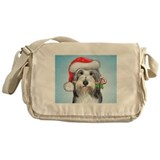 Cute Bearded collie Messenger Bag