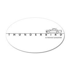 1957 Ford Thunderbird w Type 22x14 Oval Wall Peel