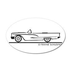 1959 Ford Thunderbird Convert 22x14 Oval Wall Peel