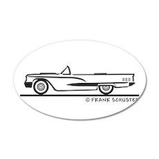 1960 Ford Thunderbird Convert 38.5 x 24.5 Oval Wal