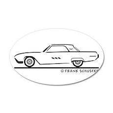1963 Ford Thunderbird Hard To 22x14 Oval Wall Peel