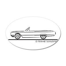 1964 Ford Thunderbird Convert 22x14 Oval Wall Peel
