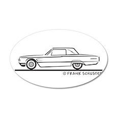 1965 Ford Thunderbird Landau 38.5 x 24.5 Oval Wall