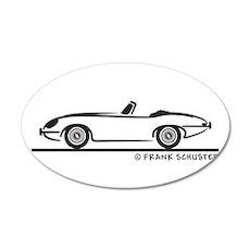 Jaguar E-Type Roadster 22x14 Oval Wall Peel