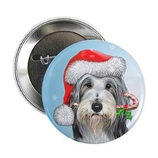"Funny Bearded collie lover 2.25"" Button"
