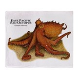 East Pacific Octopus Throw Blanket
