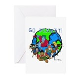 Captain Planet GO PLANET Greeting Cards (Pk of 10)