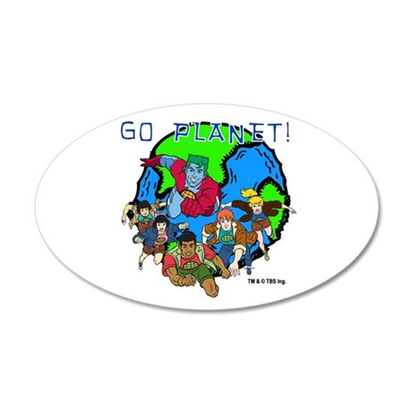 Captain Planet GO PLANET 38.5 x 24.5 Oval Wall Pee