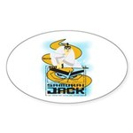 Samurai Jack Sticker (Oval 10 pk)