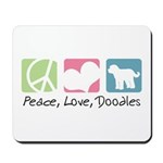 Peace, Love, Doodles Mousepad