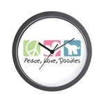 Peace, Love, Doodles Wall Clock