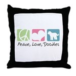Peace, Love, Doodles Throw Pillow