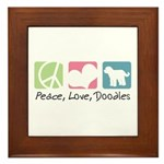 Peace, Love, Doodles Framed Tile
