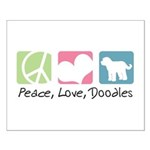 Peace, Love, Doodles Small Poster