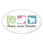 Peace, Love, Doodles Sticker (Oval 50 pk)