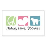 Peace, Love, Doodles Sticker (Rectangle 10 pk)